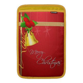 Navidad Bell y cinta Fundas Macbook Air
