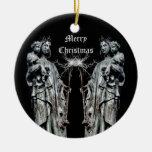 Navidad bendecido gótico de la madre y del niño ornato