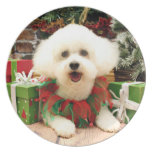 Navidad - Bichon Frise - Lilly Platos Para Fiestas