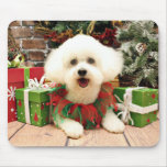 Navidad - Bichon Frise - Lilly Tapetes De Ratón