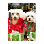 Navidad - Bichon Frise - taleguilla y P.J. Tableros Blancos