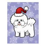 Navidad Bichon Frise Tarjetas Postales