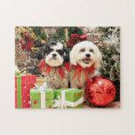 Navidad - Bichon Frise X - Bella y Lexi Puzzles