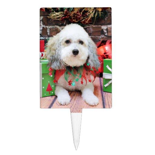 Navidad - Bichon Frise X - Macy Decoración De Tarta