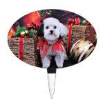 Navidad - Bichon Frise X - panda Figuras Para Tartas