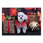 Navidad - Bichon Frise X - panda Felicitacion