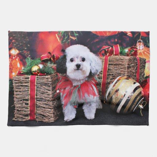 Navidad - Bichon Frise X - panda Toallas De Cocina