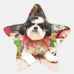 Navidad - Bichon X - Lexi Calcomanías Forma De Estrellaes