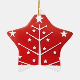 Navidad blanca roja de n ornamento de reyes magos