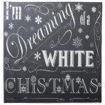 navidad blanco de la pizarra del día de fiesta servilleta de papel