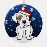 Navidad blanco del boxeador del dibujo animado de  ornaments para arbol de navidad