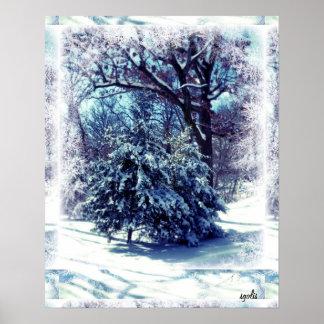 Navidad blanco en poster del país de las maravilla
