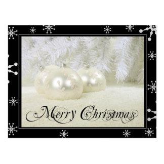 Navidad blanco estrellado tarjetas postales