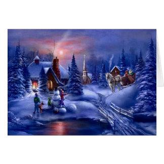 Navidad blanco felicitacion