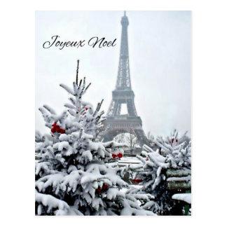 Navidad blanco francés tarjeta postal