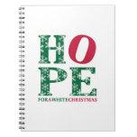 Navidad blanco libro de apuntes con espiral