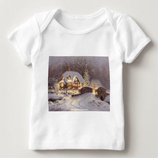 Navidad blanco playera de bebé