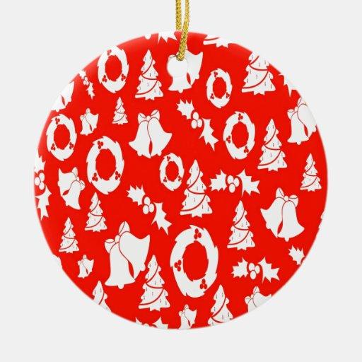 Navidad blanco rojo adornos de navidad
