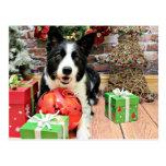 Navidad - border collie - Yaeger Postal