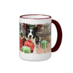 Navidad - border collie - Yaeger Tazas De Café