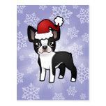 Navidad Boston Terrier