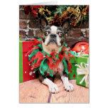 Navidad - Boston Terrier - elegante Felicitación