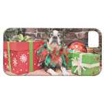 Navidad - Boston Terrier - elegante iPhone 5 Case-Mate Protector