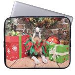 Navidad - Boston Terrier - elegante Manga Computadora