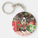 Navidad - Boston Terrier - elegante Llaveros Personalizados