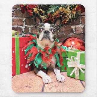 Navidad - Boston Terrier - elegante Alfombrilla De Ratón