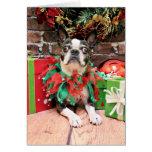 Navidad - Boston Terrier - elegante Tarjetas