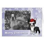 Navidad Boston Terrier Felicitación