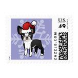 Navidad Boston Terrier Franqueo