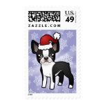 Navidad Boston Terrier Sellos