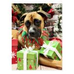 Navidad - boxeador - Vinny Postal