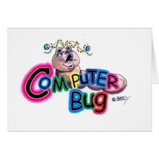 Navidad brillante del insecto tarjeta de felicitación