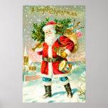 Navidad brillante póster