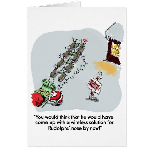 Navidad brillante tarjeta de felicitación
