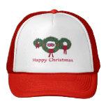 Navidad británico 2 gorros bordados