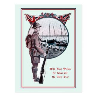 Navidad británico de la historia militar tarjeta postal