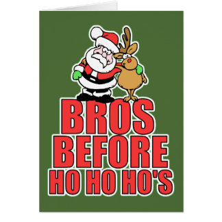 Navidad Bros Santa y Rudolph Tarjeta De Felicitación