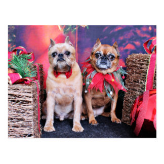 Navidad - Bruselas Griffon - Marv y Marge Postal