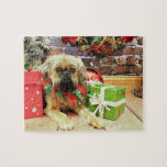 Navidad - Bruselas Griffon - Oliverio Puzzles Con Fotos