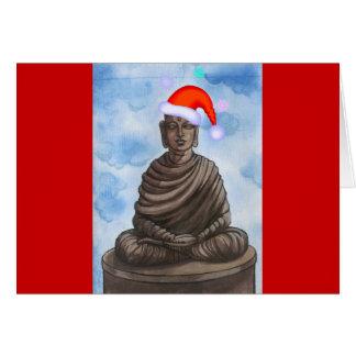 ¡Navidad Buda Tarjeta