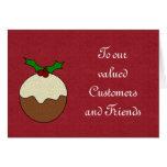Navidad buenas fiestas a los clientes y a los clie tarjetas