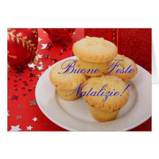 Navidad Buone Feste Natalizie Tarjeta De Felicitación
