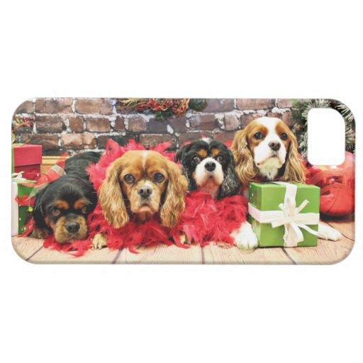 Navidad - caballeros - guisante de olor, lirio, am iPhone 5 cárcasa