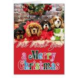 Navidad - caballeros - guisante de olor, lirio, am tarjetas