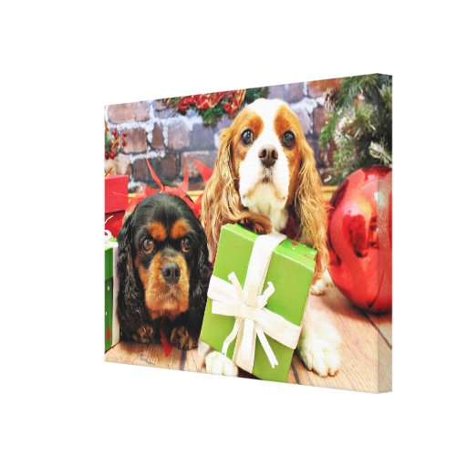 Navidad - caballeros - guisante de olor y amapola impresiones en lienzo estiradas