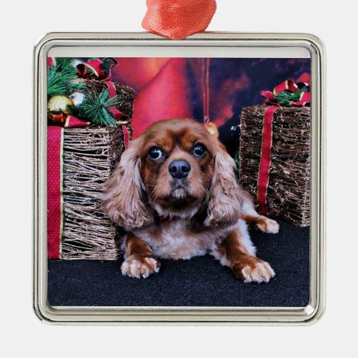 Navidad - caballeros - tonelero adorno navideño cuadrado de metal